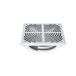 HeelGrate® Stainless Steel Floor Drain Grate Square 200x150 PVC/HDPE Slip-In