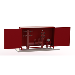 WA/NT Firemain Booster, Hydrant & Suction Riser Set 150TE with Cabinet (Painted)