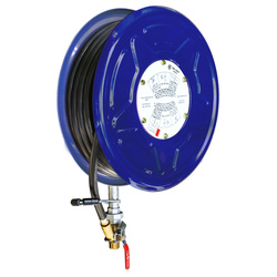 Red Emperor Blue F1 Fixed Hose Reel with Swing Guide Arm 36m - Blue