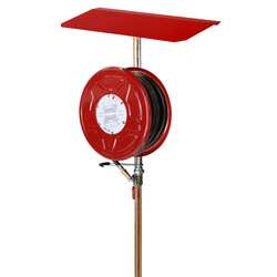 Red Emperor L1 Free Standing Fire Hose Reel with Stand & Sunshield 36m - Red