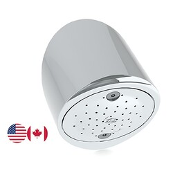 Safe-Cell® Chrome Plated Brass Prison Vandal Resistant Anti-Ligature Shower Rose 65 -NPT (USA)