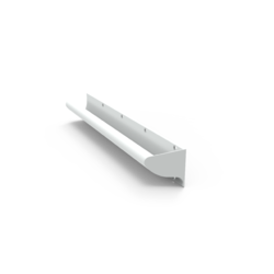GalvinCare® Anti-Ligature Grab Rail 700mm with Powder Coated Finish - LH (Vert or Horiz)