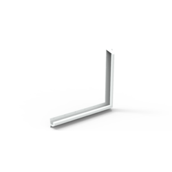 GalvinCare® Anti-Ligature 90 deg Grab Rail 700x900mm Powder Coated - LH (Vert or Horiz)