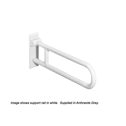 HEWI Hinged Support Rail 850mm System 801 -  Anthracite Grey