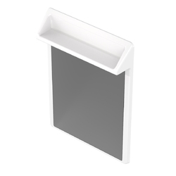 Wallgate Anti-Ligature Solid Surface Combined Mirror & Shelf 495 x 720 - White