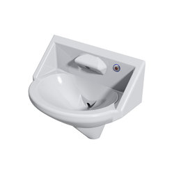 Wallgate Anti-Ligature, Anti-Vandal Solid Surface High Secure Basin; 1 Out; 1 Infra-Red Activation - White