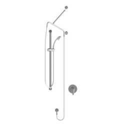 GalvinCare Hand Held Shower Kit with 900 X 32 Hygienic Grab Rail, ClevaCare Shower Arm  & CliniLever Single Lever Mixer