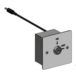 Wallgate Lockout Key Switch Plate for Use with WDC Controllers