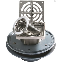 Bucket Floor Trap Combo - DI 150PVC Multi-Purpose w/ Stainless Steel Square Grate 300 & Stainless Steel Dual Strainer