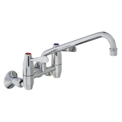 Ezy-Wash Chrome Plated Brass Wall Mtd Exp Mixing Unit Type 76 FI Inlet with 300 Reach