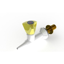 "ProLab Epoxy Coated Brass 1-Way Valve Wall Mounted, Straight Outlet - Push Turn ""Choose Media"""
