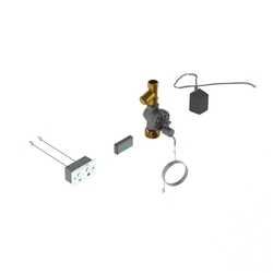 Safe-Cell® Electronic Concealed Dual Flush Pan Assembly for Mains with Controller [MTO]