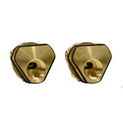 CliniMix Chrome Plated Brass Wall Inlets Assembly for Progressive Mixer