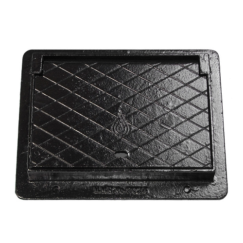 Cast Iron Meter Box Access Cover 300 x 450 Hinged WA Water Corp #2024