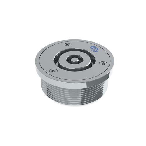 Safe-Cell® Polished Stainless Steel (CRR) Prison Floor Drain Assembly Round 100x80 BSP
