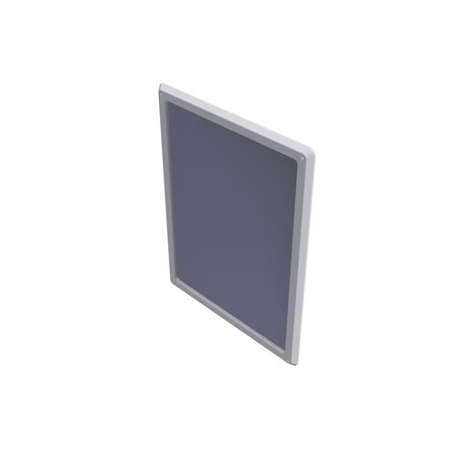 Wallgate Anti-Ligature, Anti-Vandal Polycarb Mirror with Solid Surface Surround 450 x 1010 - White
