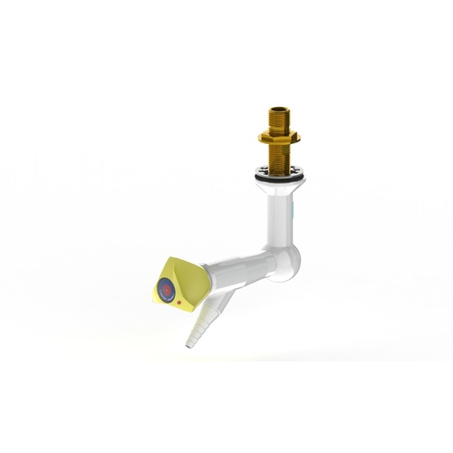 "ProLab Epoxy Coated Brass 1-Way Valve Suspended Mtd, 45° Outlet - Push Turn ""Choose Media"""